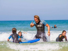 This is Sergio, one of our surf instructors. Always with positive energy.