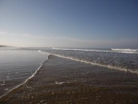 Zeezicht vanop het strand
